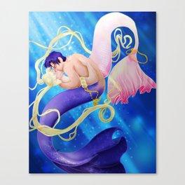 Moon Mermaid Canvas Print