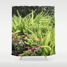 Sunny Green Shower Curtain