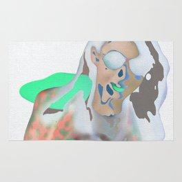 neon girl Rug