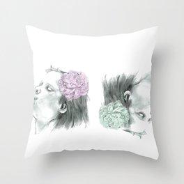 Spring wind Throw Pillow