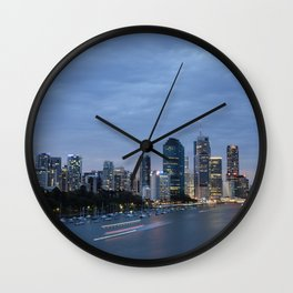 Early Evening River Traffic Wall Clock