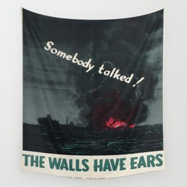 Vintage poster - Loose lips Wall Tapestry