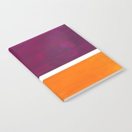 Purple Wine Yellow OchreMid Century Modern Abstract Minimalist Rothko Color Field Squares Notebook