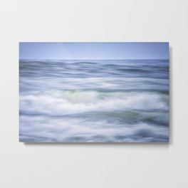 Brush Strokes of the waves Metal Print
