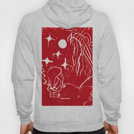 Winter Elf- Crimson Red Hoody