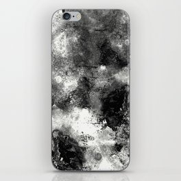 Deja Vu - Black and white, textured painting iPhone Skin