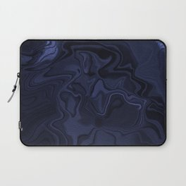 Blue and Black Abstract Artwork Laptop Sleeve