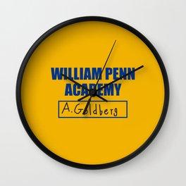 William Penn Academy Gym Shirt  Wall Clock