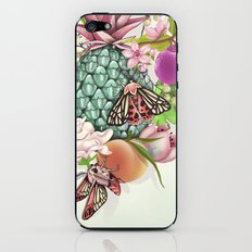 Glam Tropical - silver version iPhone & iPod Skin