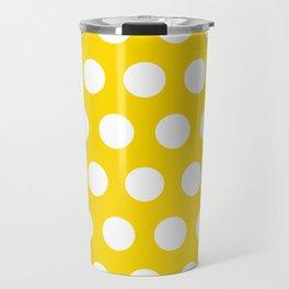 Medium White Dots on Yellow Travel Mug