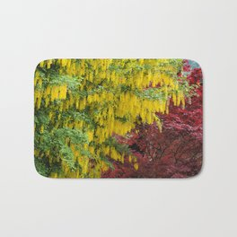 Warm comforting autumn trees Bath Mat