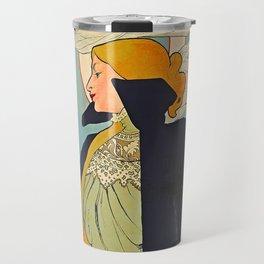 French Vintage Cigarettes Poster Travel Mug
