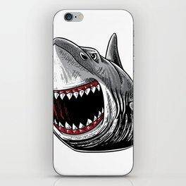 Shark Attack Shirt Megalodon Giant Horror Gift iPhone Skin