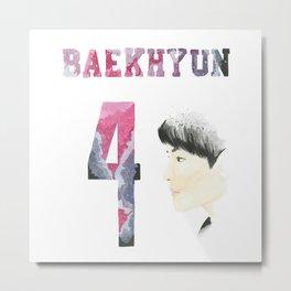 Baekhyun 4 Metal Print
