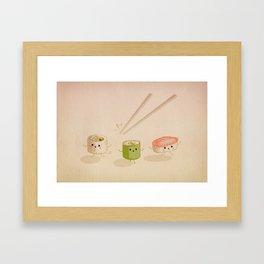 Running Sushi Framed Art Print