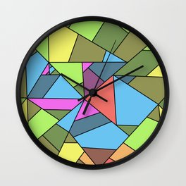 colorful mosaic - patchwork Wall Clock