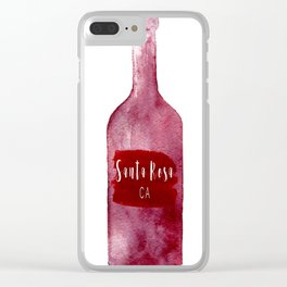 Santa Rosa, CA - Wine Country Love Clear iPhone Case
