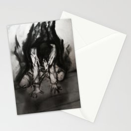 Dark Collapse (Charcoal Thoughts) Stationery Cards