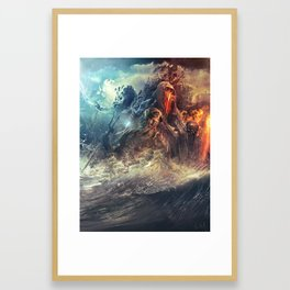 God's War (Kronos art) II Framed Art Print