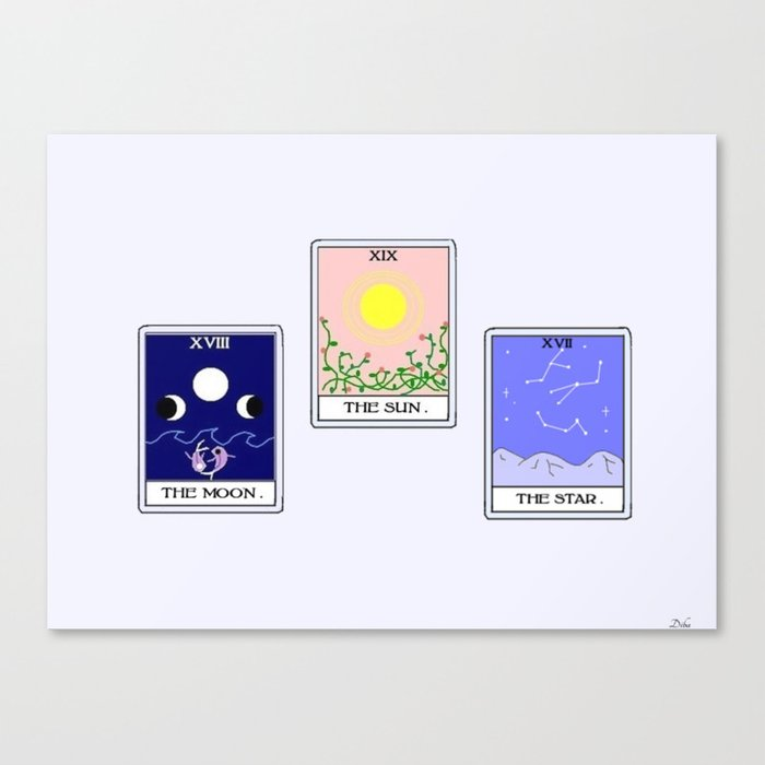 Trio of Tarot Leinwanddruck