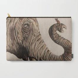 The Elephant and the Mouse Carry-All Pouch