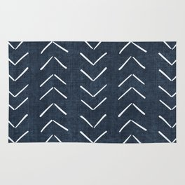 Mud Cloth Big Arrows in Navy Rug