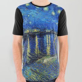Starry Night Over the Rhone by Vincent van Gogh All Over Graphic Tee