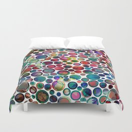 Dots on Painted Background 2 Duvet Cover