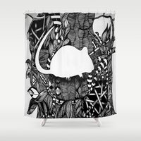 rat Shower Curtains featuring Rat by Mindy Robinson