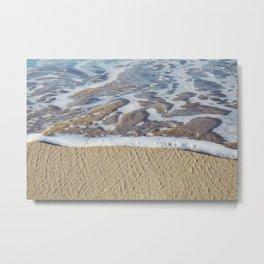 Foamy Line Metal Print