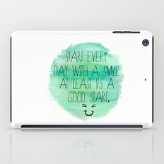 Start With a Smile iPad Case