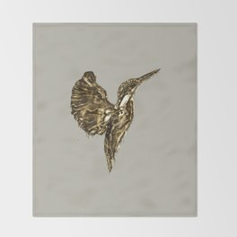 Golden Kingfisher Throw Blanket