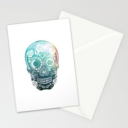 Mexican Skull / teal Stationery Cards