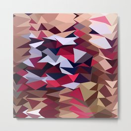 Alabaster Abstract Low Polygon Background Metal Print