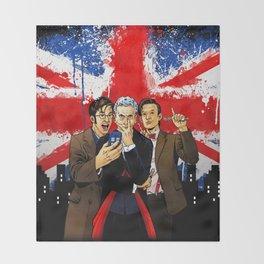 British Tardis Selfie Throw Blanket
