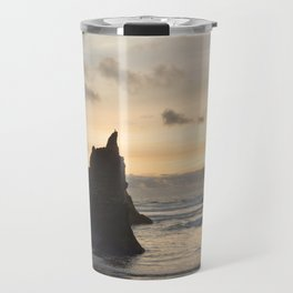 Arcadia Beach Sunset Lion Rock Oregon Coast Pacific Ocean Travel Mug