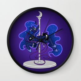 Luna Carousel Wall Clock