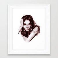 daria Framed Art Prints featuring Daria by Olga Noes