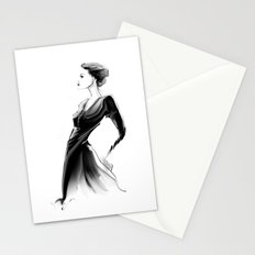 black. Stationery Cards
