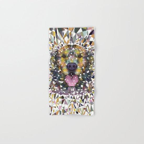 rainbow dog Hand & Bath Towel