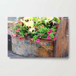 Pike Place Market Flowers Metal Print