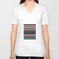 navajo V-neck T-shirts featuring Navajo West by Charlene McCoy