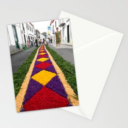 Flower carpet Stationery Cards