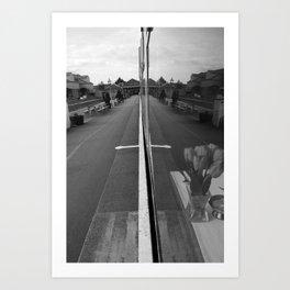 As Trains Go By Art Print