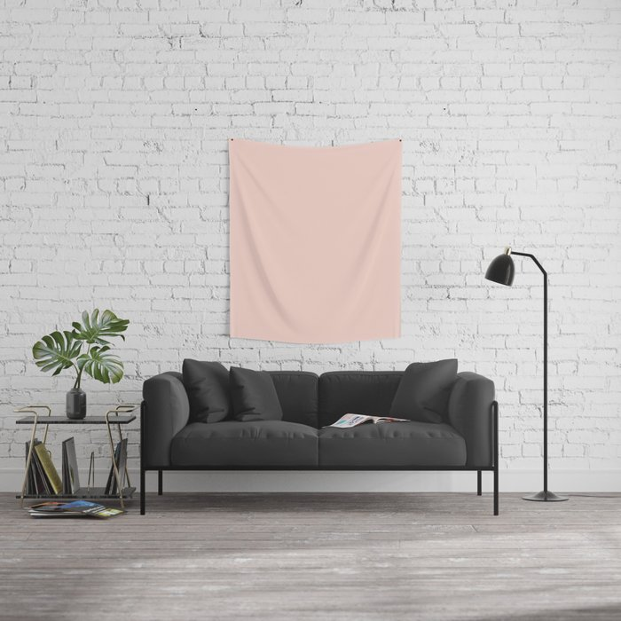 Simply pink and Rose Gold texture - Color Wall Tapestry