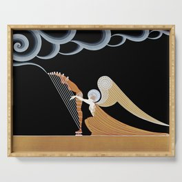 """Art Deco Design """"The Angel"""" Serving Tray"""