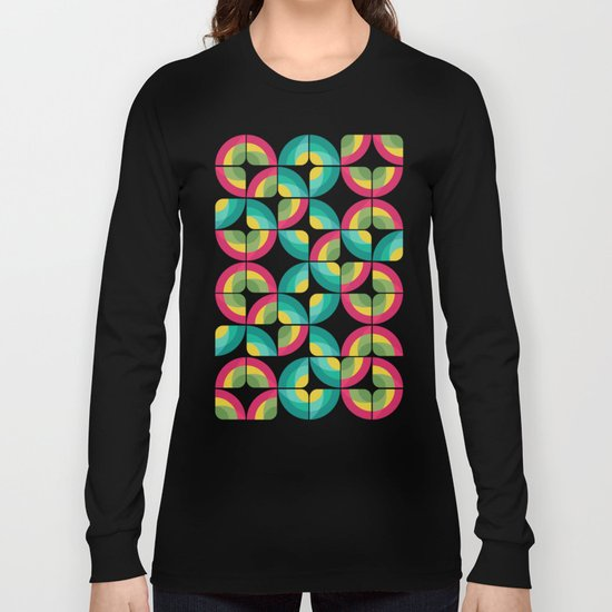 Passion Fruit Pattern Long Sleeve T-shirt