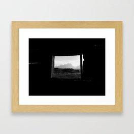 Cabin Window, Grand Teton National Park Framed Art Print