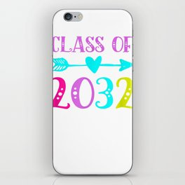 Class Of 2032 Grow With Me Kindergarten First Day Of School T-Shirt iPhone Skin