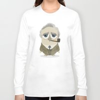 tolkien Long Sleeve T-shirts featuring Greater-Spotted British Authors - Tolkien by Scott Tyrrell